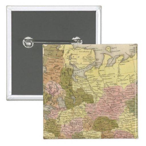 Rusia en Europa 3 Pin Cuadrada 5 Cm