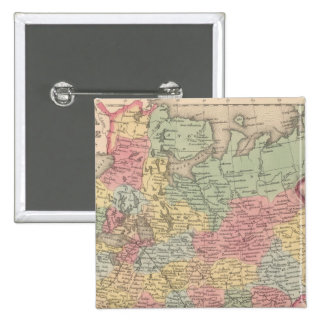Rusia en Europa 5 Pin Cuadrada 5 Cm