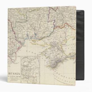 """Rusia en la parte VIII de Europa con el mapa de Carpeta 1 1/2"""""""
