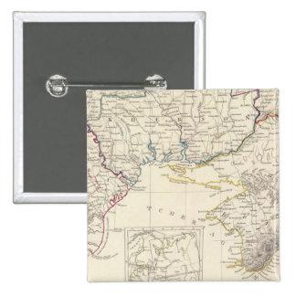 Rusia en la parte VIII de Europa con el mapa de ín Pins