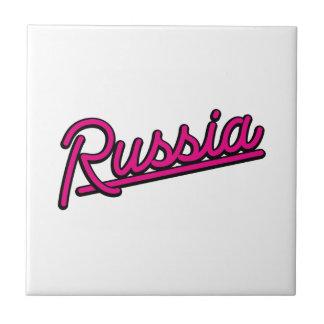 Rusia en magenta azulejos