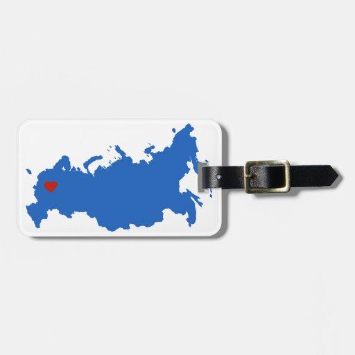 Rusia Etiquetas De Equipaje