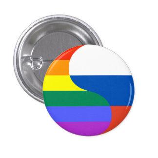 Rusia gay pin redondo de 1 pulgada