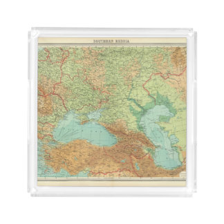 Rusia meridional bandeja cuadrada