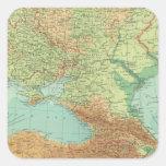 Rusia meridional pegatina cuadrada