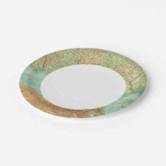 Rusia meridional plato de papel de 7 pulgadas