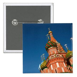 Rusia, Moscú, el Kremlin, Vasiliy bendijo Pin Cuadrada 5 Cm