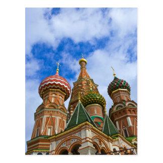 Rusia, Moscú, Plaza Roja, albahaca del St. Tarjeta Postal