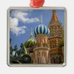 Rusia, Moscú, Plaza Roja. St. Albahaca 3 Adorno De Navidad