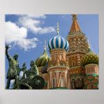 Rusia, Moscú, Plaza Roja. St. Albahaca 3 Poster