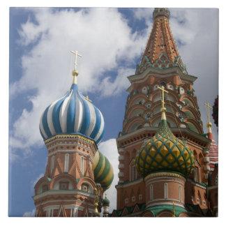 Rusia, Moscú, Plaza Roja. St. Albahaca 4 Azulejo Cuadrado Grande