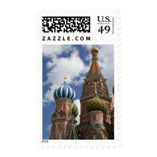 Rusia, Moscú, Plaza Roja. St. Albahaca 4 Estampilla