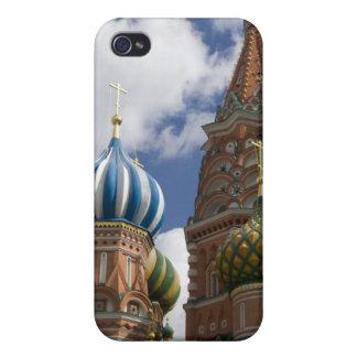 Rusia, Moscú, Plaza Roja. St. Albahaca 4 iPhone 4 Carcasas