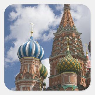 Rusia, Moscú, Plaza Roja. St. Albahaca 4 Pegatina Cuadrada