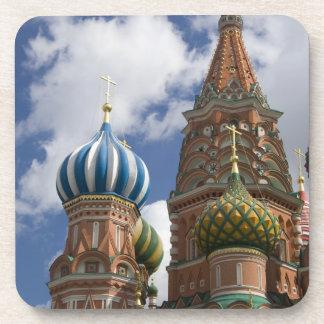 Rusia, Moscú, Plaza Roja. St. Albahaca 4 Posavasos De Bebida