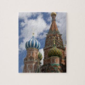 Rusia, Moscú, Plaza Roja. St. Albahaca 4 Puzzle Con Fotos