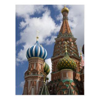 Rusia, Moscú, Plaza Roja. St. Albahaca 4 Tarjetas Postales