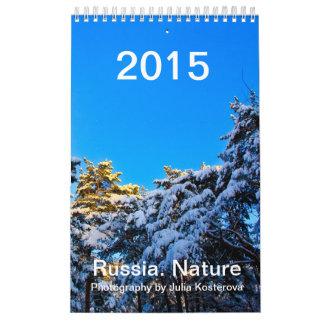 Rusia. Naturaleza. 2015 pequeños verticales del Calendarios