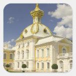 Rusia. Petrodvorets. Palacio de Peterhof. Peter Pegatina Cuadrada