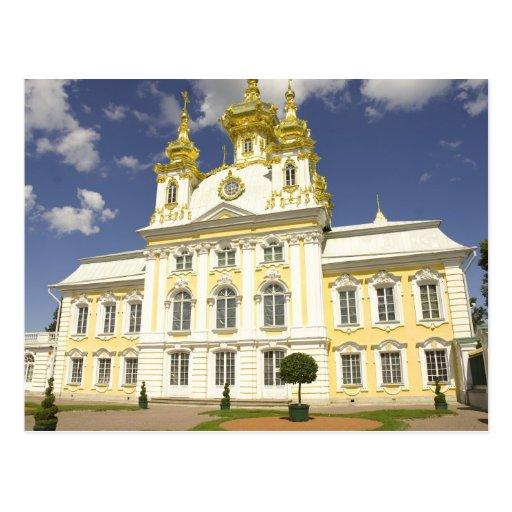 Rusia. Petrodvorets. Palacio de Peterhof. Peter Postal
