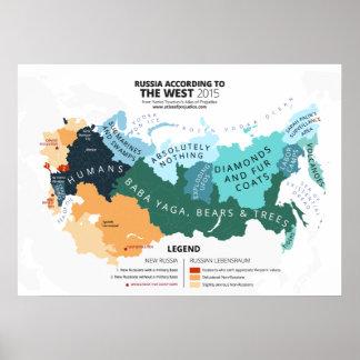 Rusia según el oeste póster