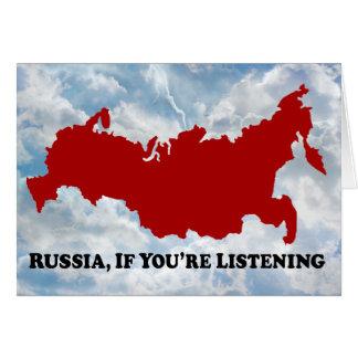 Rusia si escucha - tarjeta de felicitación