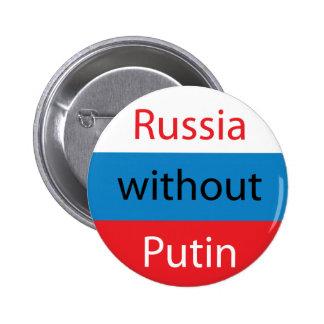 Rusia sin Putin Pin Redondo De 2 Pulgadas