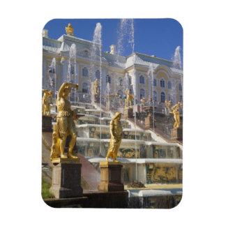 Rusia, St Petersburg, la gran cascada, Imán Foto Rectangular