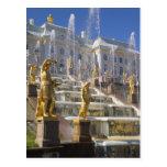 Rusia, St Petersburg, la gran cascada, Postales
