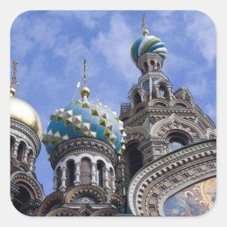 Rusia, St Petersburg, Nevsky Prospekt, los 2 Calcomanias Cuadradas