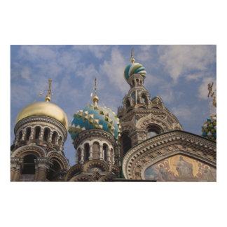 Rusia, St Petersburg, Nevsky Prospekt, los 2 Impresiones En Madera