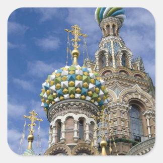 Rusia, St Petersburg, Nevsky Prospekt, Pegatinas Cuadradases Personalizadas