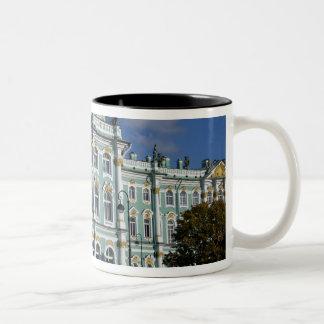 Rusia, St Petersburg, palacio del invierno, los 2 Taza De Café De Dos Colores