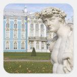 Rusia, St Petersburg, Pushkin, Catherine 3 Calcomania Cuadradas