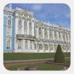 Rusia, St Petersburg, Pushkin, Catherine 4 Calcomanía Cuadrada