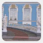 Rusia, St Petersburg, Pushkin, Catherine 5 Calcomanías Cuadradas Personalizadas