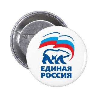 Rusia unida pin redondo de 2 pulgadas