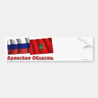 Rusia y Bryansk Oblast Etiqueta De Parachoque