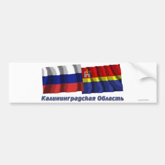 Rusia y Kaliningrado Oblast Pegatina Para Auto