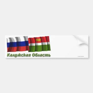 Rusia y Kaluga Oblast Etiqueta De Parachoque