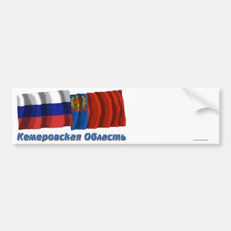 Rusia y Kemerovo Oblast Pegatina De Parachoque