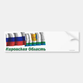 Rusia y Kirov Oblast Pegatina De Parachoque