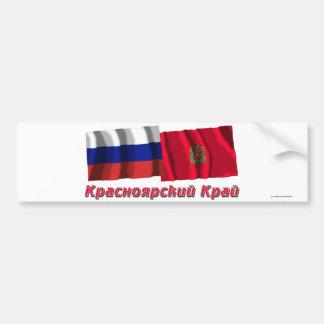Rusia y Krasnoyarsk Krai Pegatina Para Auto