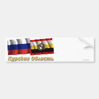 Rusia y Kursk Oblast Pegatina De Parachoque