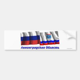 Rusia y Leningrad Oblast Pegatina De Parachoque
