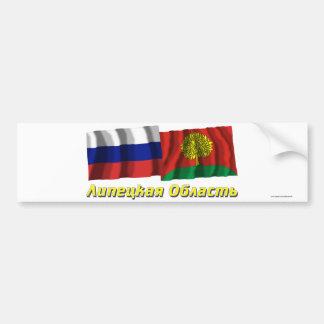 Rusia y Lipetsk Oblast Pegatina Para Auto