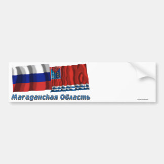 Rusia y Magadan Oblast Etiqueta De Parachoque