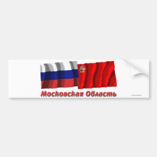 Rusia y Moscú Oblast Pegatina De Parachoque