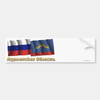 Rusia y Murmansk Oblast Etiqueta De Parachoque