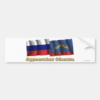 Rusia y Murmansk Oblast Pegatina Para Auto